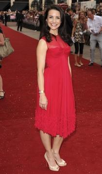 Un vestido rojo, la opción de Kristin Davis