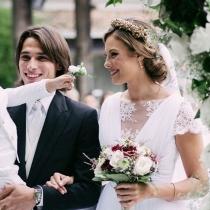 Jessica Bueno y Jota Peleteiro, en el día de su boda