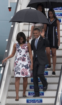 Michelle Obama, un perfecto look para Cuba