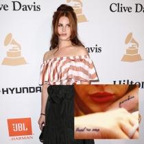 Tatuajes en la mano: las palabras de Lana del Rey