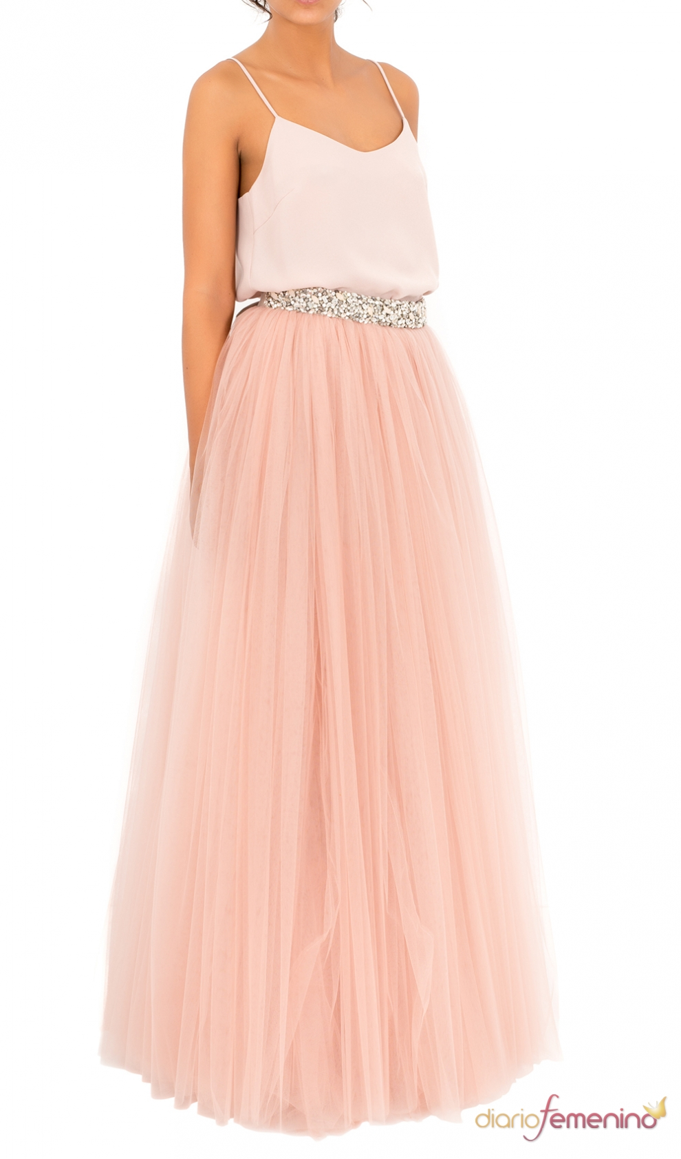una falda de tul larga de bgo amp me ideal para invitadas de boda