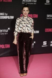 Nuria Gago, total look 'terciopelo chic'