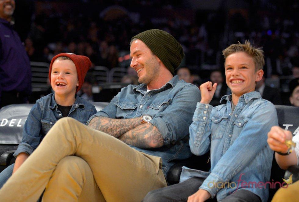 Los hijos de David Beckham, Romeo y Cruz