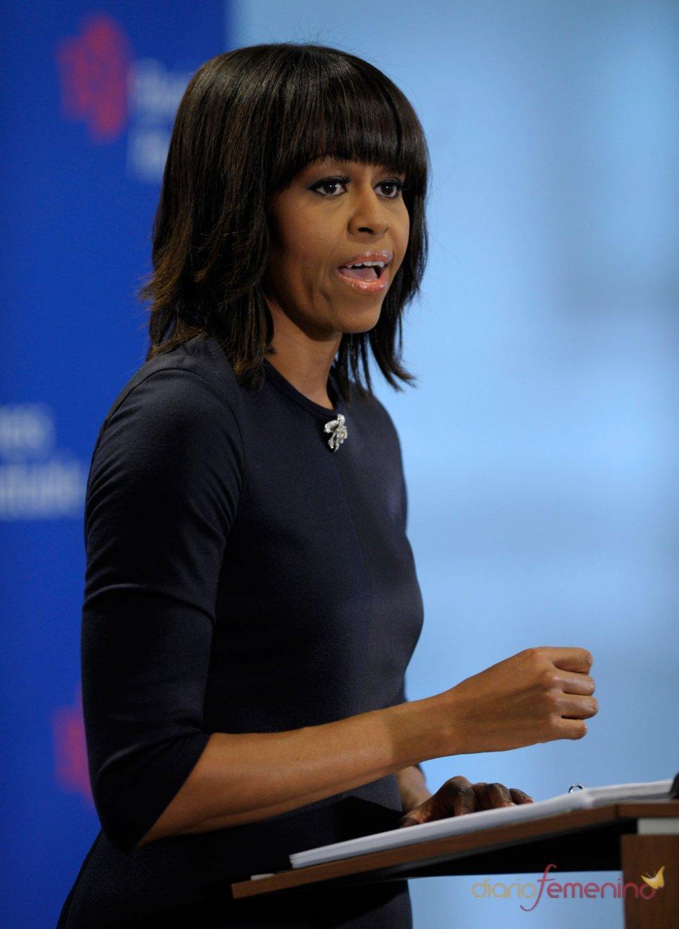 Michelle Obama, discreto vestido negro