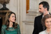 Mirada cómplice entre Letizia Ortiz y el Príncipe Felipe en la recepción a los miembros del COI en apoyo a Madrid 2020