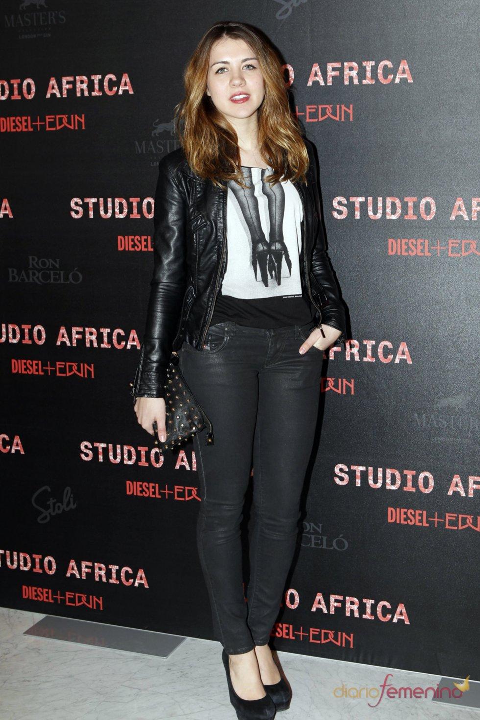 La actriz Andrea Guasch en la fiesta de Diesel 2013