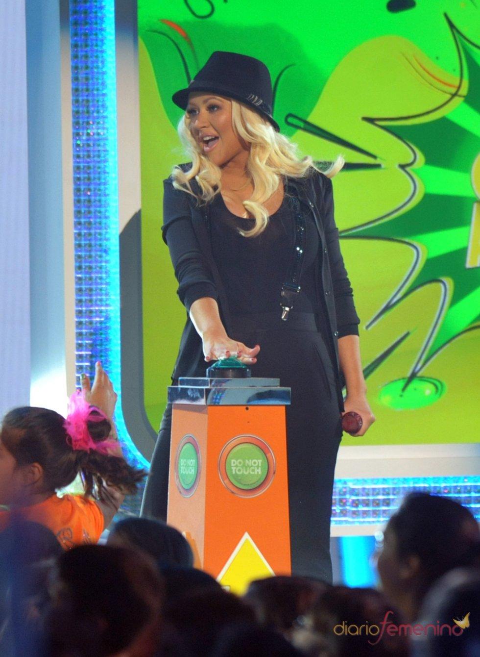 Christina Aguilera en los Kids' Choice Awards 2013