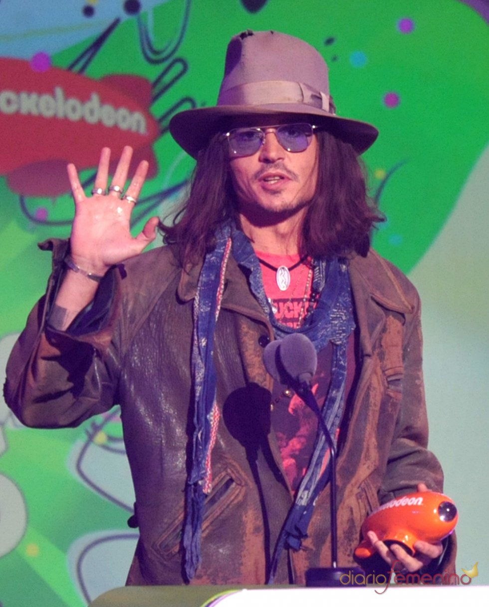 Johnny Depp en los Kids' Choice Awards 2013