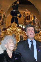La Duquesa de Alba en la Semana Santa de Sevilla