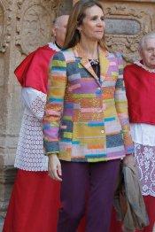 La Infanta Elena, en la misa de Pascua de la Semana Santa 2013