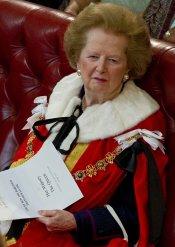 Margaret Thatcher en la Cámara de los Lores