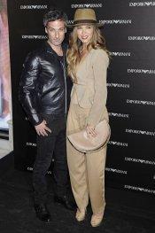 Juana Acosta y Ernesto Alterio en la inauguración de la tienda Emporio Armani en Madrid