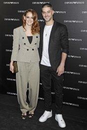 Luis Fernández y Ana Polvorosa en la inauguración de la tienda Emporio Armani en Madrid