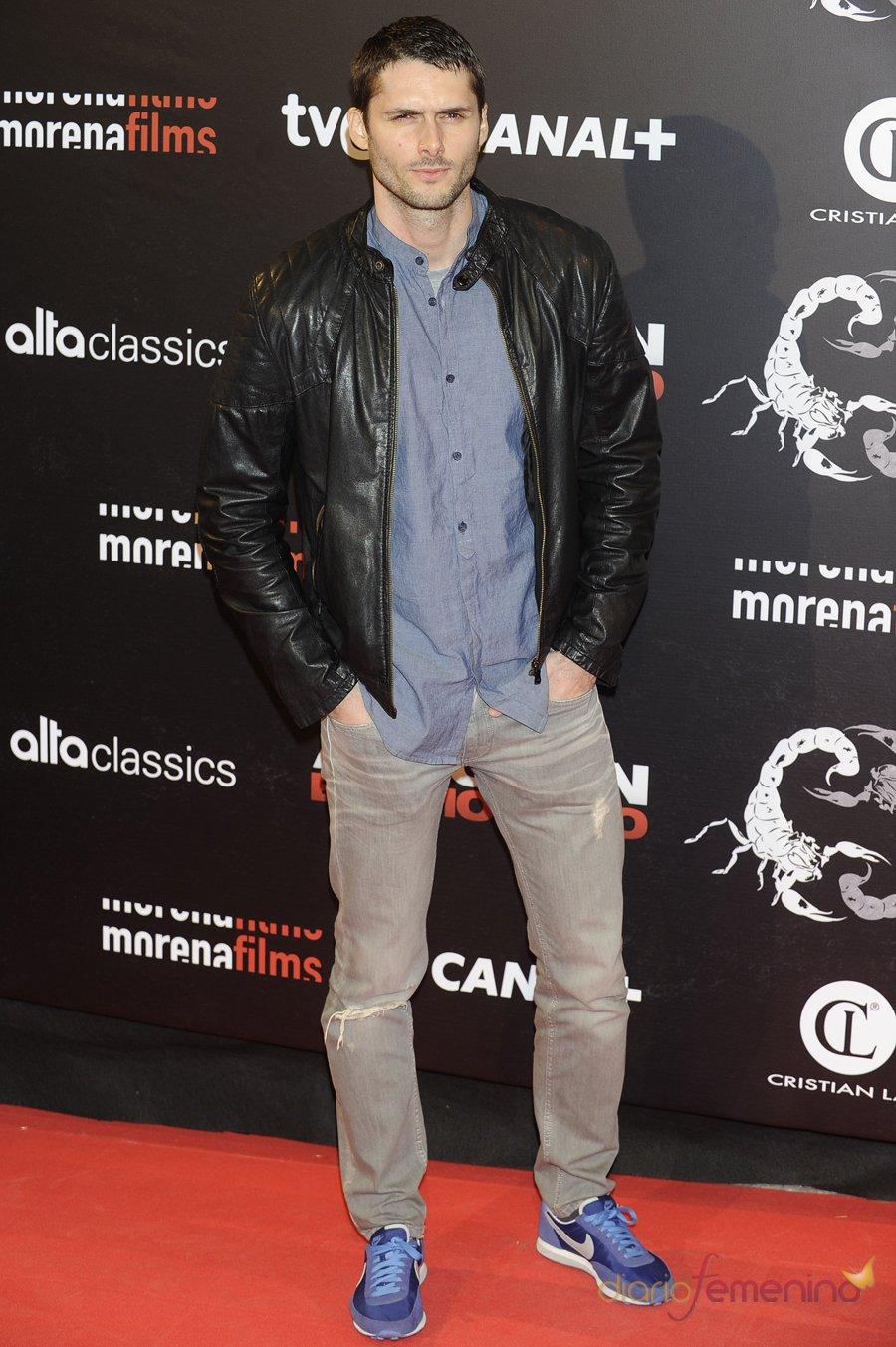 El guapo Sergio Mur en la presentación de 'Alacrán enamorado'