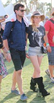 Joshua Jackson a su llegada al Festival Coachella 2013