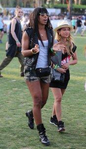 Kelly Rowland no quiso perderse el Festival Coachella 2013