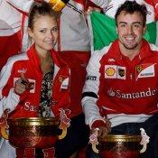 Fernando Alonso y su novia, Dasha Kapustina: la pareja de la F1