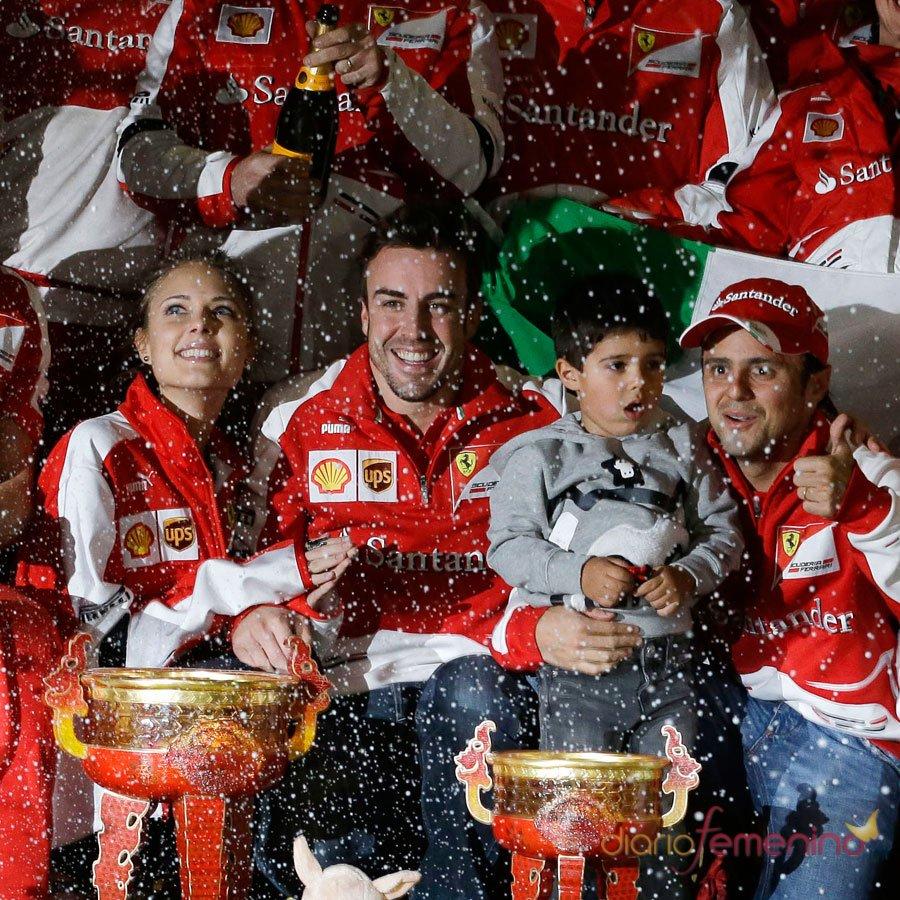 Fernando Alonso y Dasha Kapustina: secretos en Ferrari