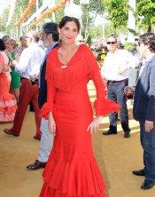 Lourdes Montes, sin Fran Rivera, en la Feria de Abril 2013