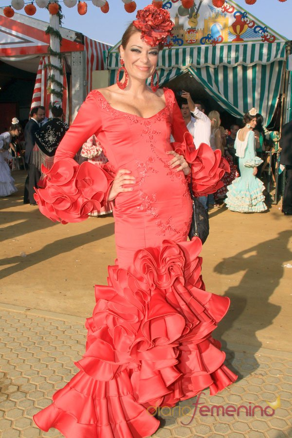 Lucía Hoyos en la Feria de Abril 2103