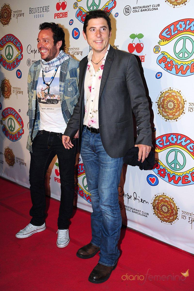 El presentador Manel Fuentes en Barcelona durante la fiesta Flower Power Pacha 2013