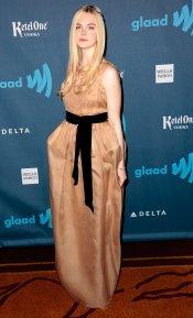 La elegancia de Elle Fanning en los Glaad 2013
