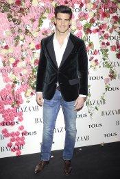 El ex futbolista Aitor Ocio durante la presentación del perfume de Tous, Rosa