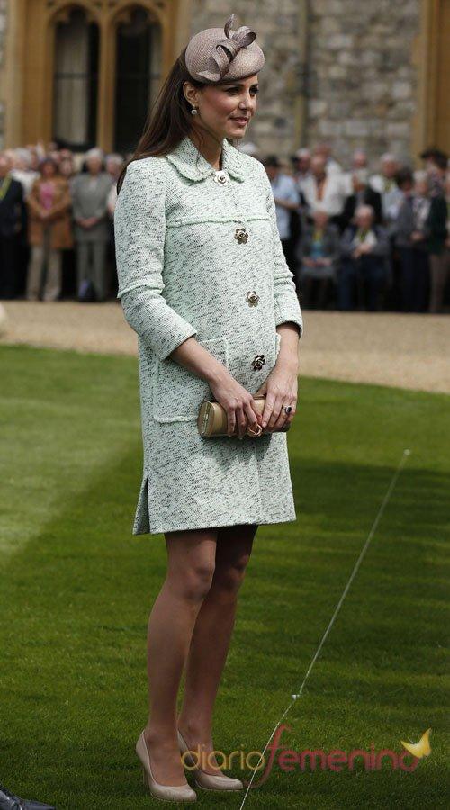 Kate Middleton, embarazada y de gala