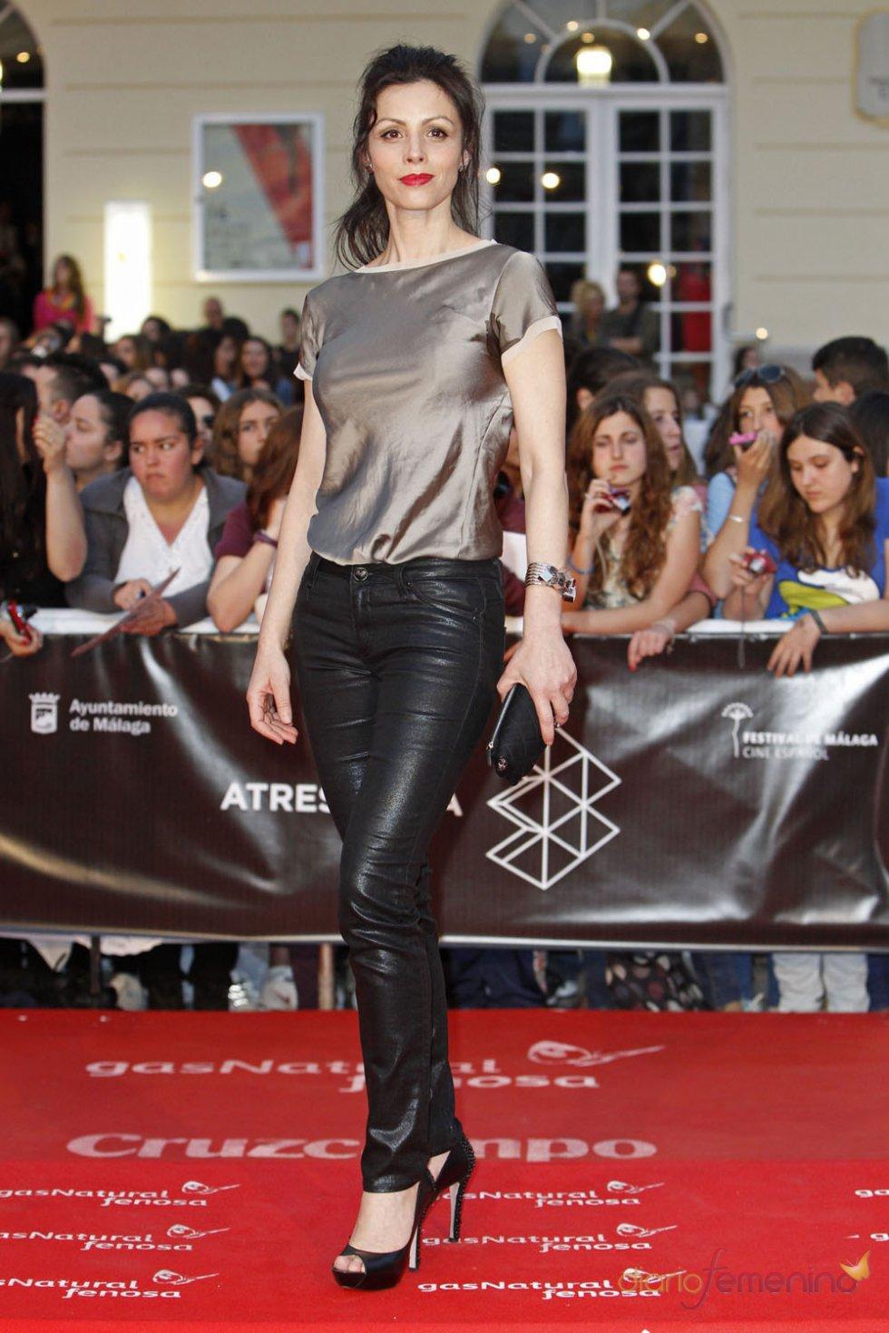 Ana Álvarez en la alfombra roja del Festival de Málaga 2013