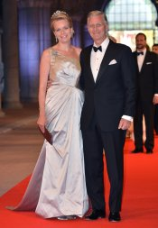Matilde y Felipe de Bélgica en la última cena organizada por Beatriz de Holanda como Reina