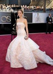 Vestidos de noche: Look de princesa de Jennifer Lawrence
