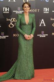 Vestidos de noche: Paula Echevarría elige el verde