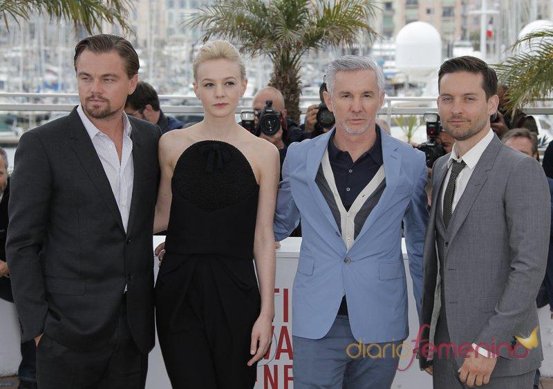 Leonardo DiCaprio, Carey Mulligan y Tobey Maguire, protagonistas de 'El Gran Gatsby', en el Festival de Cannes 2013
