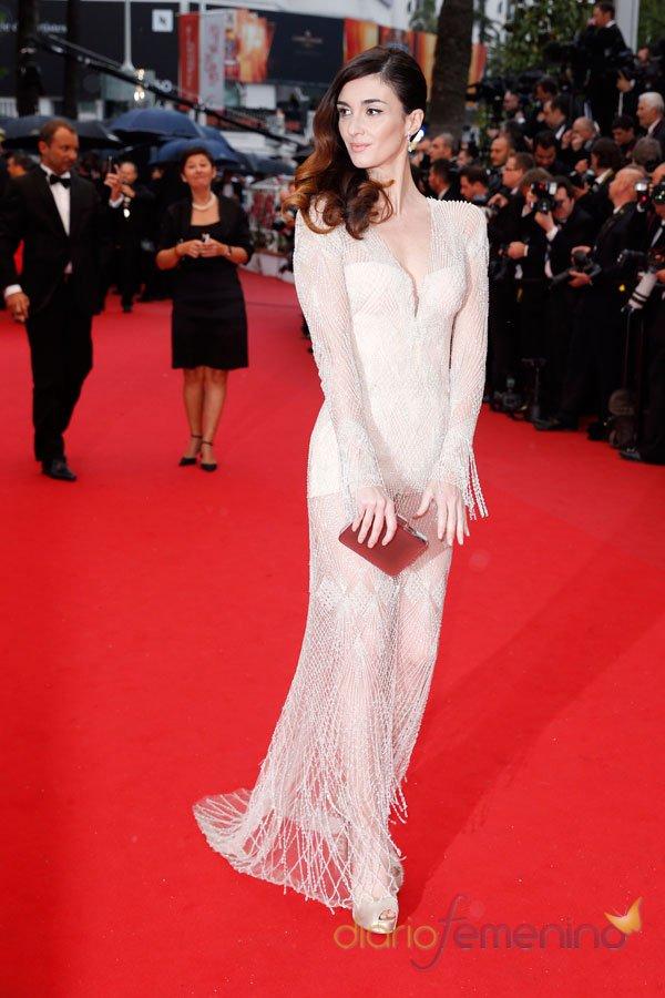 El vestido de cristales de Paz Vega en Cannes 2013