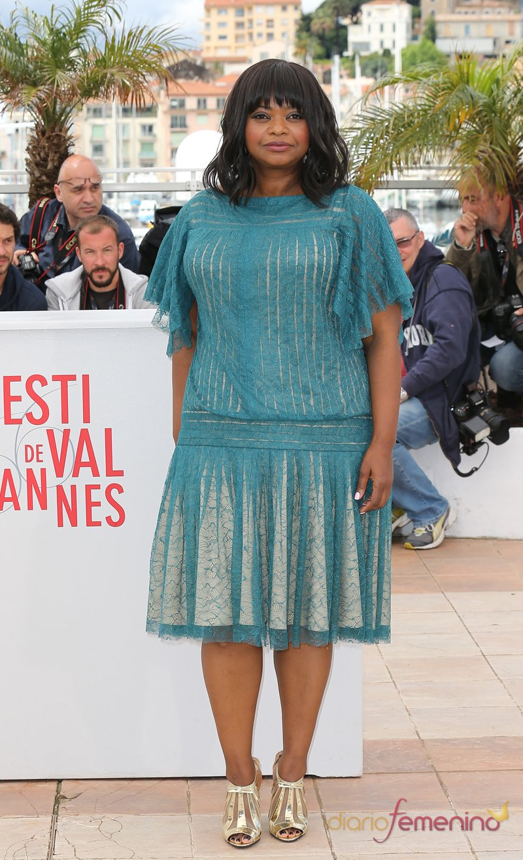 La actriz Octavia Spencer en la presentación de 'Fruitvale Station' en el Festival de Cannes 2013