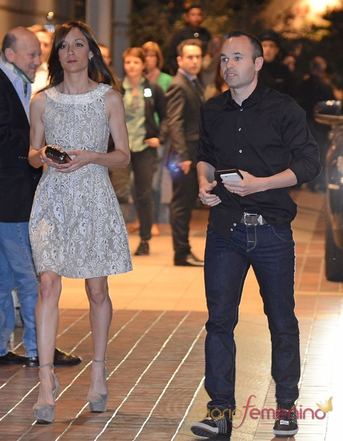 Anna Ortiz, la esposa de Andrés Iniesta en la cena del FC Barcelona