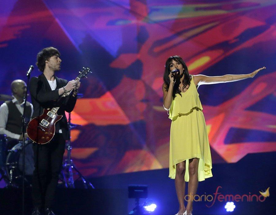 Festival de Eurovisión 2013: Raquel del Rosario en el último ensayo