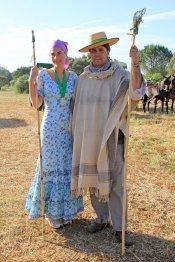 Fran Rivera y Lourdes Montes en la Romería del Rocío 2013