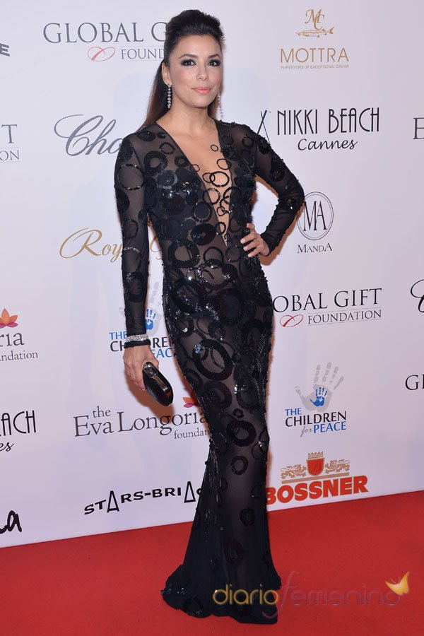 Eva Longoria, en la gala Global Gift de Cannes 2013