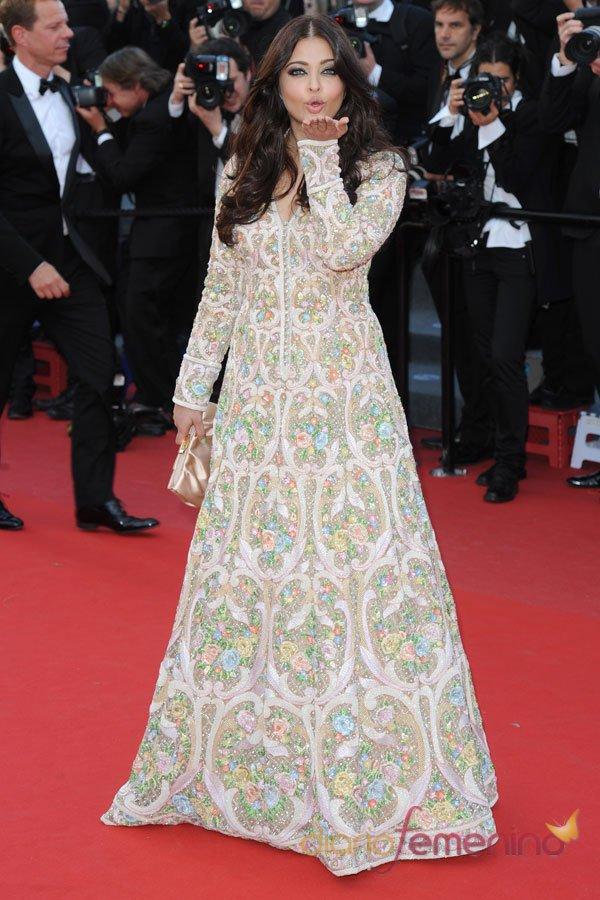 Ashwaya Rai, modelo floral en el Festival de Cannes 2013