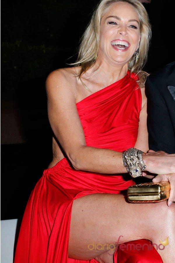 Descuidos de famosas: Sharon Stone y su celulitis