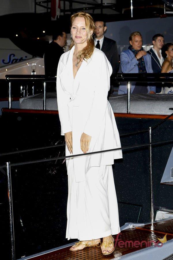 Uma Thurman, la más feas de las fiestas de Cannes