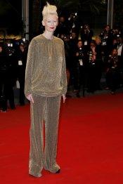 Tilda Swinton, un look andrógino en el Festival de Cannes 2013