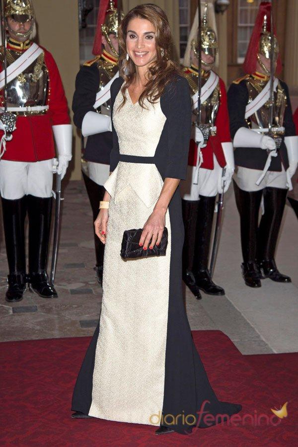 El vestido de fiesta de Rania de Jordania