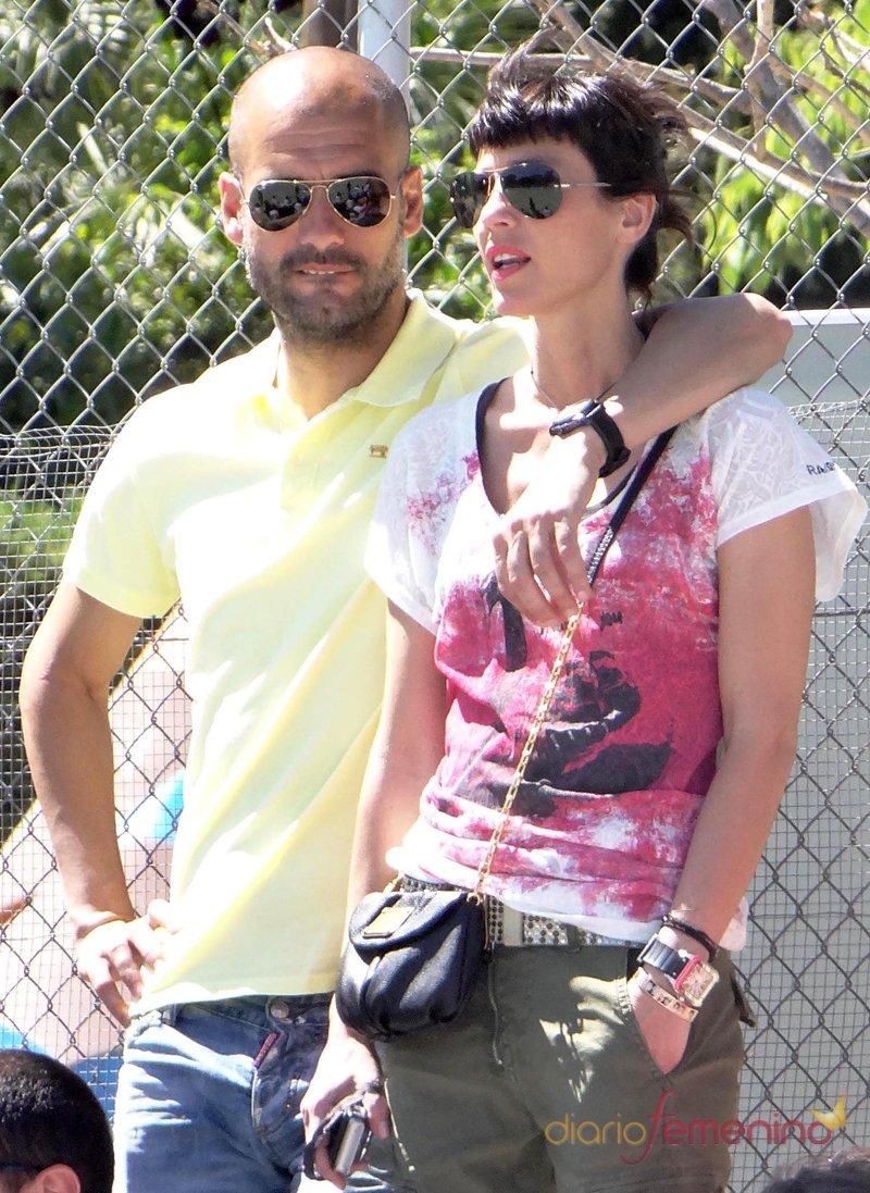 Pep Guardiola y su mujer, Cristina Serra