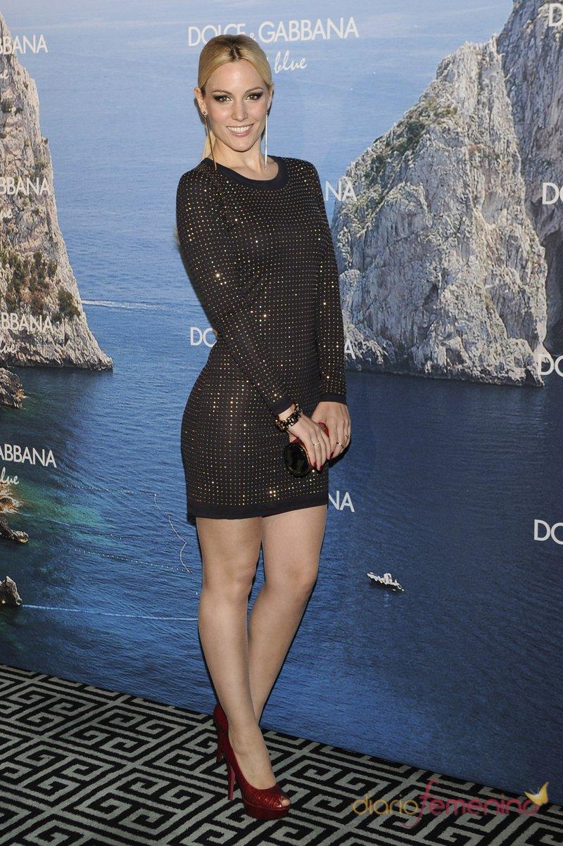 Edurne, espectacular con un vestido negro, en la fiesta Dolce y Gabbana Mediterranean Summer 2013