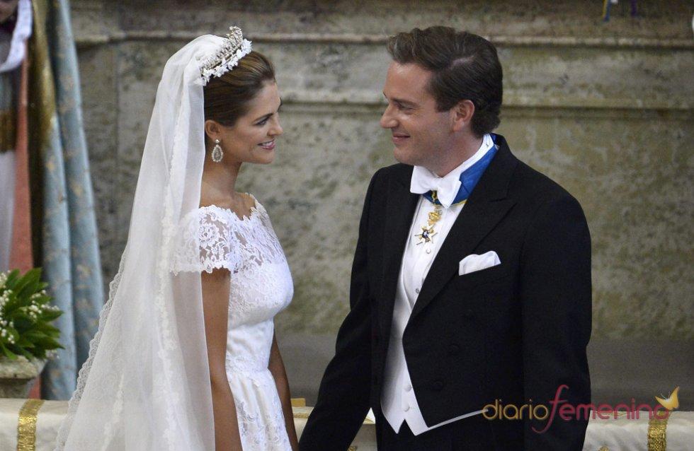 Las miradas entre Magdalena de Suecia y Chris O'Neill en la Boda real