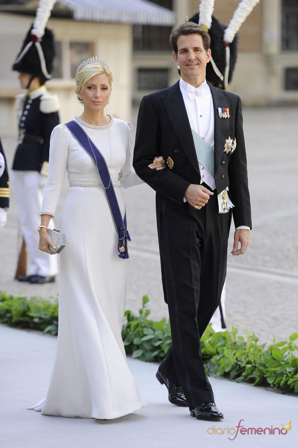 Marie-Chantal de Grecia y su marido Pablo de Grecia en la Boda Real de Grecia