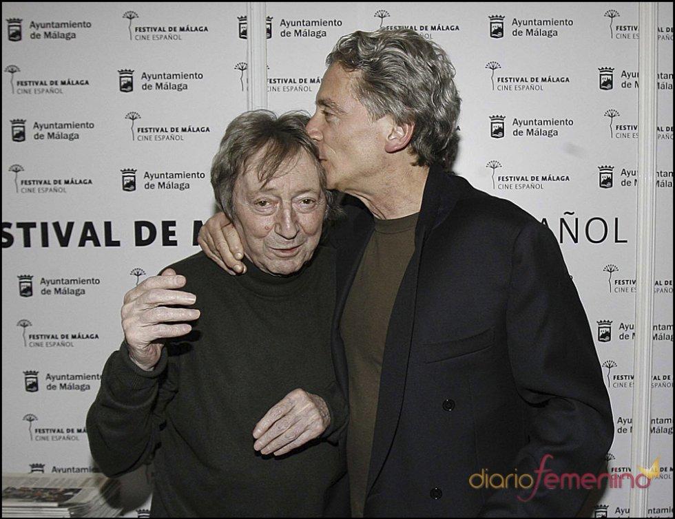 Elías Querejeta y Antonio Gasset en el festival de cine de Málaga