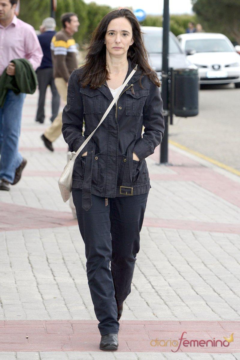 La actriz Ana Torrent ha querido dar su último adiós a Elías Querejeta